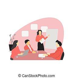 reunião negócio, colegas