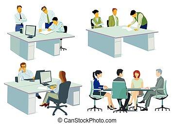 reunião negócio, team-.eps, conselho