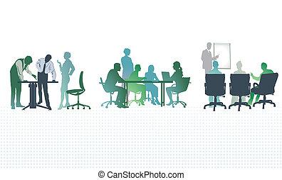 reuniões, escritório