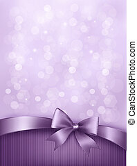 ribbon., arco presente, elegante, vetorial, fundo, feriado