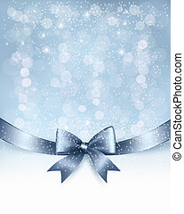 ribbon., arco presente, vetorial, lustroso, fundo, feriado, natal
