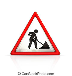 roadworks, sinal