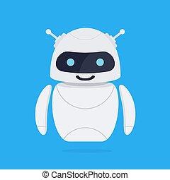 robô, concept., chatbot