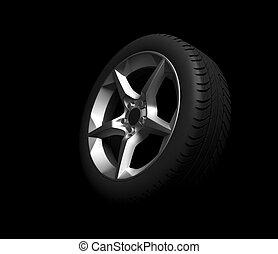 roda, car, experiência preta