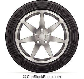 roda, car, pneu