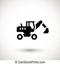 roda, escavador, ícone