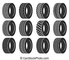 roda, pneu, automóvel, ou, autocarro, caminhão, tyre.
