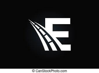 rodovia, desenho, logotipo, letra, criativo, mercado de zurique, estrada, construction., tráfego, theme., sing., transporte, manutenção, conceito