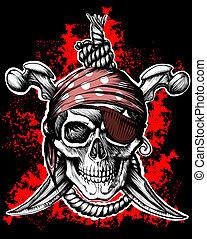 roger, símbolo, pirata, jovial