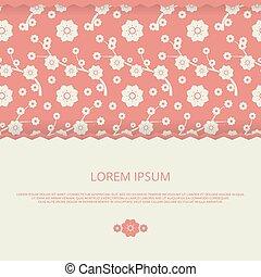 romanticos, convite, floral, vetorial, casório, cartões, bandeira, design.