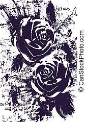 rosa, abstratos, artisticos, fundo