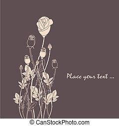 rosa, abstratos, flor, fundo