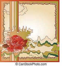 rosa, abstratos, fundo