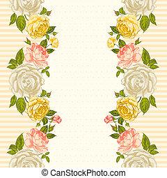 rosa, quadro, card., convite
