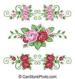 rosas, bandeiras, cobrança