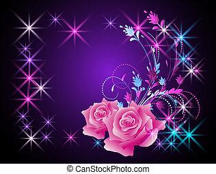 rosas, estrelas