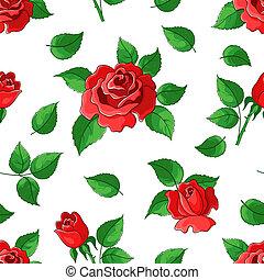 rosas, fundo, flor