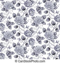 rosas, seamless, padrão