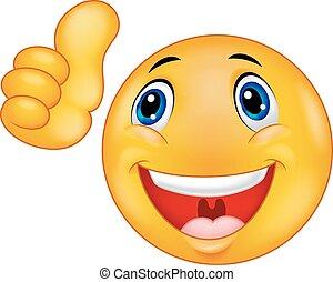 rosto feliz, caricatura, smiley, emoticon