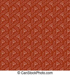 roupa, desenhado, tecido, floral, flores, papel parede, desenho, seamless, verão, doodle, fundo, estilo, têxtil, mão, pattern., folhas, impressão, trendy