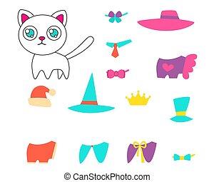 roupas, jogo, gato