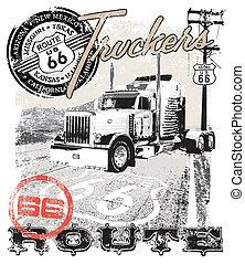 route66, arizona, caminhão