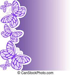 roxo, borboleta