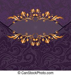 roxo, dourado, decoração
