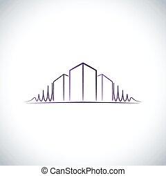 roxo, logotipo, arquiteta