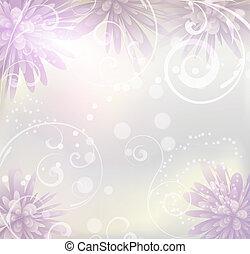 roxo, pastel, flores, experiência colorida