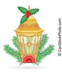 rua, vindima, ilustração, vetorial, retro, luz, natal