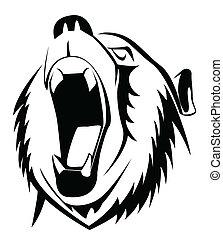 rugido, urso