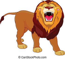 rugindo, leão