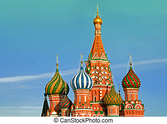 russia., manjericão, moscow., catedral, st
