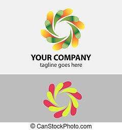 símbolo, circular, logotipo, ícone, elemento