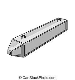 símbolo., construção, item., habitação, pile., predios, ilustração, concreto, industrial