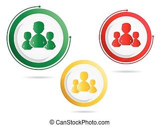 símbolo, grupos, pessoas