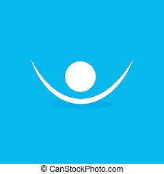 símbolo, human, ícone