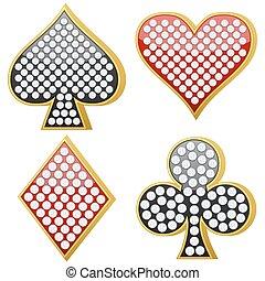 símbolo, jóia, cartão jogando