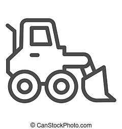 símbolo, neve, carregador, icon., sinal, arado, design., graphics., teia, vetorial, construção, linha, estilo, móvel, esboço, veículo, pictograma, soprador, gelo, caminhão, experiência., raspador, branca, conceito