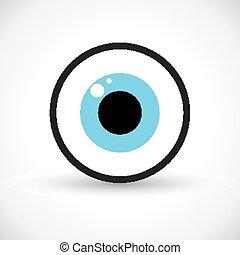 símbolo, olho, ícone