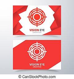 símbolo, olho, visão, ícone