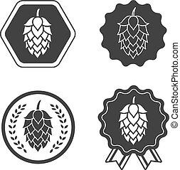 símbolo, sinal, cerveja, arte, pulo, etiqueta