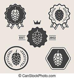 símbolo, sinal, elemento, cerveja, arte, pulo, etiqueta