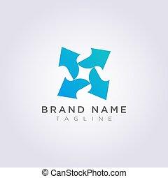 símbolo, vetorial, desenho, seta, logotipo, ícone