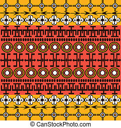 símbolos, étnico, fundo, africano