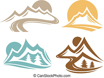 símbolos, alcance montanha