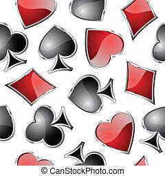 símbolos, cartão jogando, seamlessly.