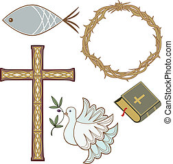 símbolos, cristão, cobrança