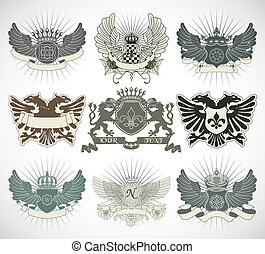 símbolos, heraldic, jogo
